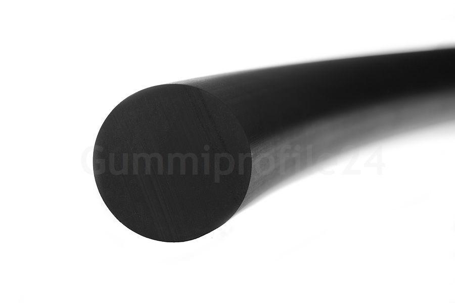12 mm epdm vollgummi rundprofil schwarz gummiprofile24. Black Bedroom Furniture Sets. Home Design Ideas