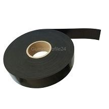 2x10 mm EPDM/SBR Gummistreifen schwarz (20 Meter/Rolle)