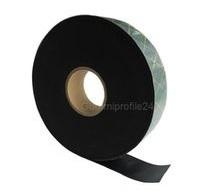 1x10 mm EPDM/SBR Gummistreifen schwarz selbstklebend (Montagehilfe), 20 Meter/Rolle