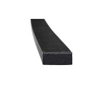 10x25 mm EPDM Moosgummi-Vierkantprofil schwarz