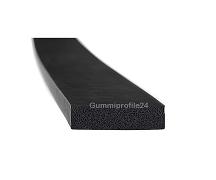 10x35 mm EPDM Moosgummi-Vierkantprofil schwarz