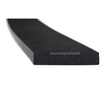 10x45 mm EPDM Moosgummi-Vierkantprofil schwarz
