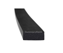 15x35 mm EPDM Moosgummi-Vierkantprofil schwarz