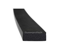 15x40 mm EPDM Moosgummi-Vierkantprofil schwarz