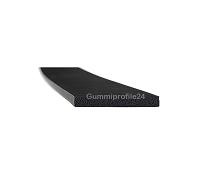 2x15 mm EPDM Moosgummi-Vierkantprofil schwarz