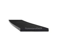 2x20 mm EPDM Moosgummi-Vierkantprofil schwarz