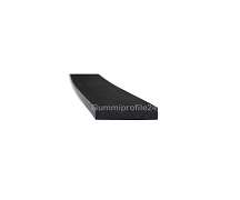 3x15 mm EPDM Moosgummi-Vierkantprofil schwarz