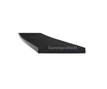 3x25 mm EPDM Moosgummi-Vierkantprofil schwarz
