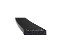 4x20 mm EPDM Moosgummi-Vierkantprofil schwarz