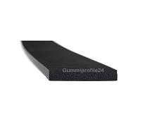 4x25 mm EPDM Moosgummi-Vierkantprofil schwarz