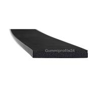 4x30 mm EPDM Moosgummi-Vierkantprofil schwarz