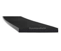 4x50 mm EPDM Moosgummi-Vierkantprofil schwarz