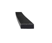 5x15 mm EPDM Moosgummi-Vierkantprofil schwarz