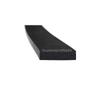 5x20 mm EPDM Moosgummi-Vierkantprofil schwarz