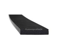 5x25 mm EPDM Moosgummi-Vierkantprofil schwarz