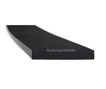 5x40 mm EPDM Moosgummi-Vierkantprofil schwarz