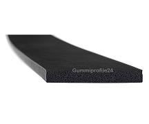 5x50 mm EPDM Moosgummi-Vierkantprofil schwarz