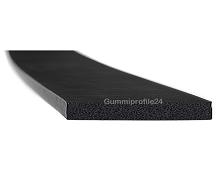 5x60 mm EPDM Moosgummi-Vierkantprofil schwarz