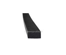 6x10 mm EPDM Moosgummi-Vierkantprofil schwarz