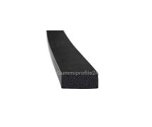 6x12 mm EPDM Moosgummi-Vierkantprofil schwarz