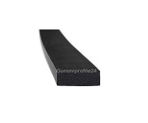 6x15 mm EPDM Moosgummi-Vierkantprofil schwarz