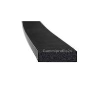 6x20 mm EPDM Moosgummi-Vierkantprofil schwarz