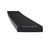 6x25 mm EPDM Moosgummi-Vierkantprofil schwarz