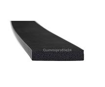 6x30 mm EPDM Moosgummi-Vierkantprofil schwarz