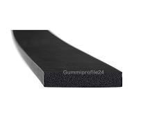 6x35 mm EPDM Moosgummi-Vierkantprofil schwarz