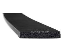 6x50 mm EPDM Moosgummi-Vierkantprofil schwarz