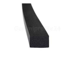 EPDM Moosgummi-Vierkantprofile schwarz