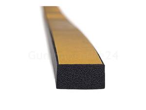 EPDM Moosgummi-Vierkantprofile selbstklebend (Montagehilfe) schwarz